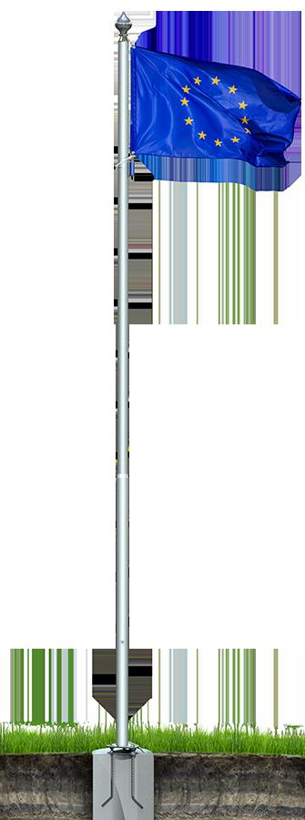 Флагшток уличный ЛЮКС (алюминий)